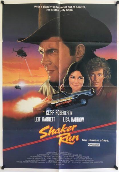 shaker run new zealand one sheet poster 1985
