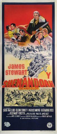 shenandoah australian daybill poster western james stewart