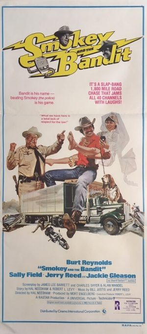 smokey and the bandit australian daybill poster burt reynolds