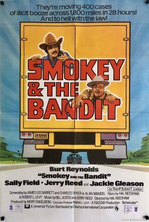 smokey and the bandit uk one sheet poster 1977 burt reynolds