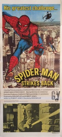 spider-man strikes back australian daybill poster 1978 spiderman