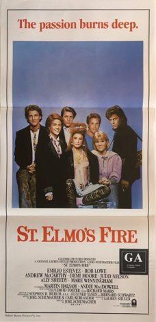 st elmos fire australian daybill poster