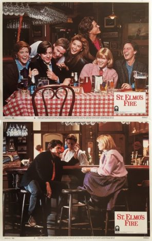 st. elmos fire lobby card set 1985 brat pack 4