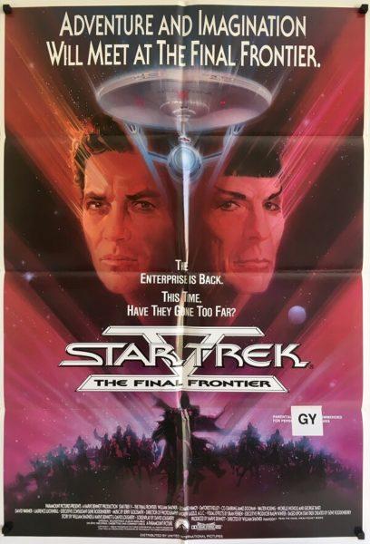 star trek the final frontier one sheet poster 1989