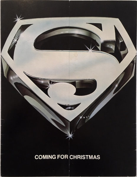 superman the movie promo card flyer
