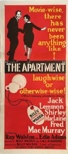 the apartment australian daybil poster DB1 jack lemmon shirley maclaine