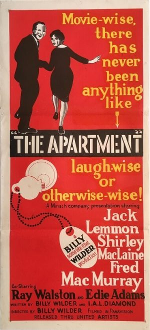 the apartment australian daybil poster DB2 jack lemmon shirley maclaine