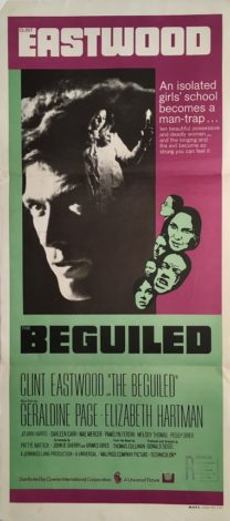the beguiled australian daybill movie poster clint eastwood