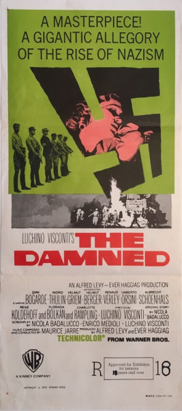 the damned australian daybill movie poster dirk bogarde