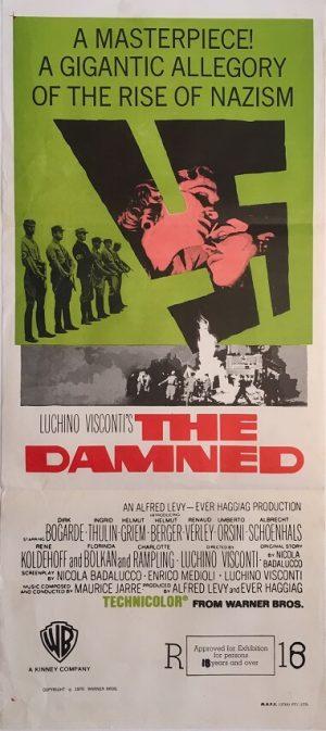 the damned australian daybill movie poster dirk bogarde