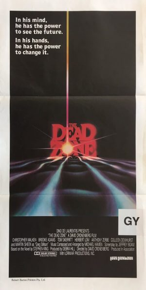 the dead zone australian daybill poster 1983