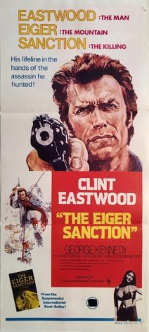the eiger sanction australian daybill poster clint eastwood george kennedy