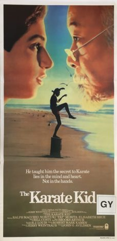 the karate kid australian daybill poster 1987