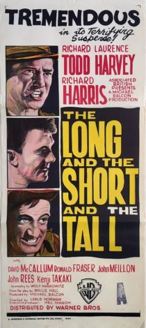 the long and the short and the tall australian daybill war movie poster richard todd laurence harvey richard harris