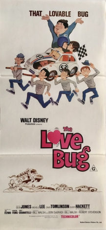 the love bug australian daybill poster 1968