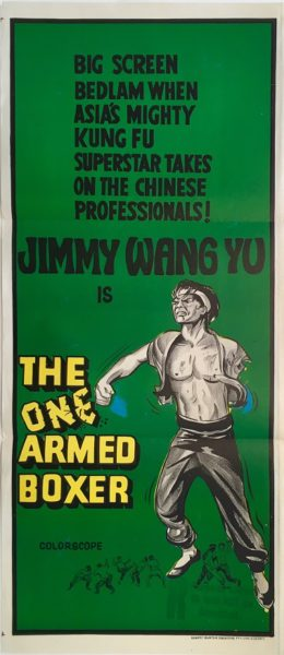 the one armed boxer australian daybill poster jimmy wang yu