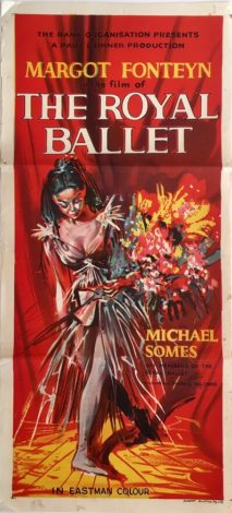 the royal ballet australian daybill poster margot fonteyn 1960