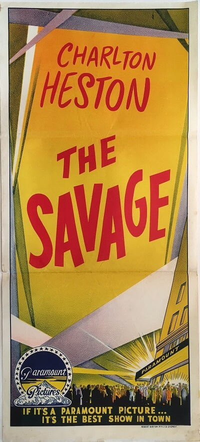 the savage australian stock daybill poster charlton heston