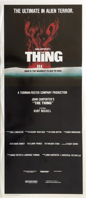 the thing australian daybill poster 1982