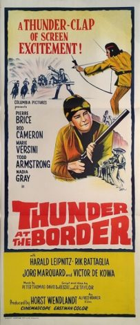 thunder at the border australian daybill poster 1967