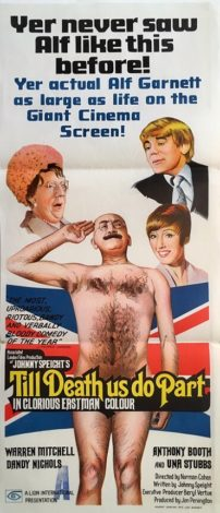 till death us do part australian daybill movie poster alf garnett