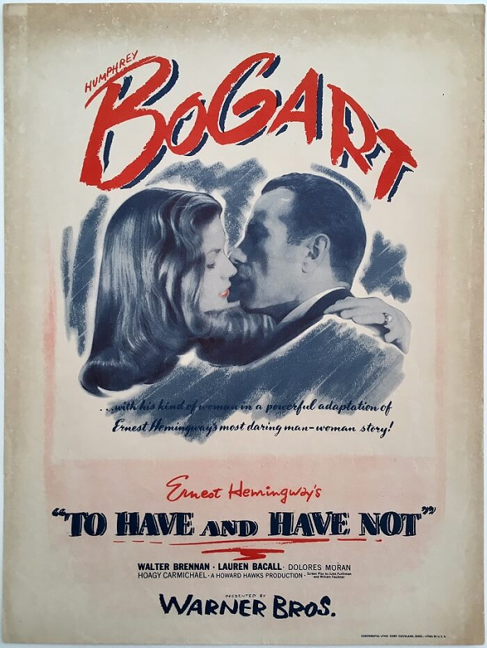 to have and have not us herald 1944 ernest hemingway humphry bogart lauren becall