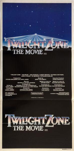 twilight zone the movie australian daybill poster 1983