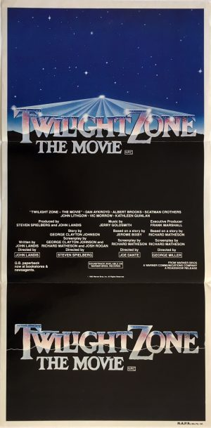 twilight zone the movie australian daybill poster 1983