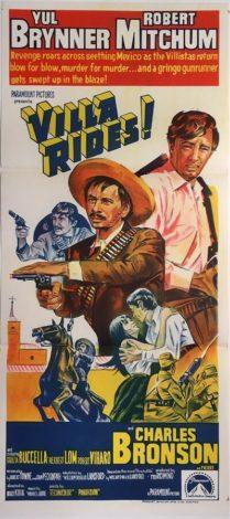 villa rides australian daybill poster mexican western yul brynner robert mitchum charles bronson