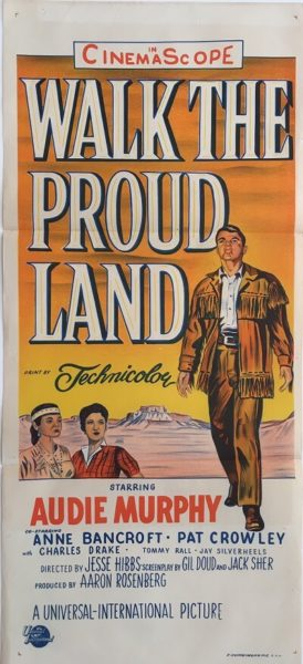 walk the proud line australian daybill poster audie murphy 1956