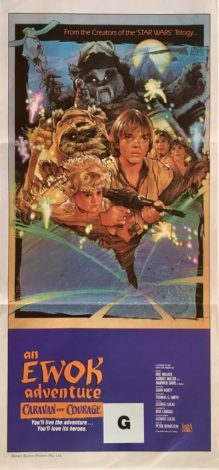 an ewok adventure caravan of courage australian daybill poster star wars 1984