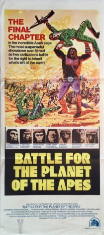 battle for the planet of the apes australian daybill poster 1973