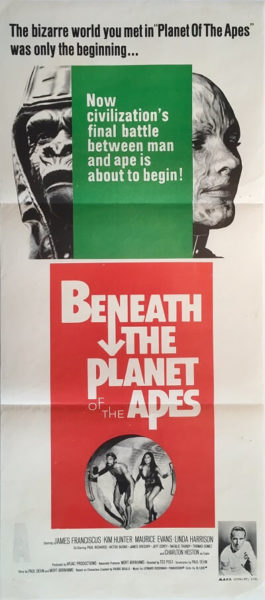 beneath the planet of the apes australian daybill poster 1970