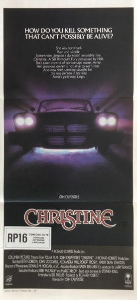 christine australian daybill horror movie poster stephen king 1