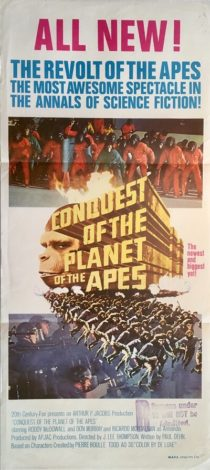 conquest of the planet of the apes australian daybill poster 1972