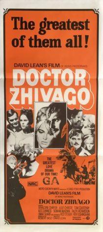 doctor zhivago australian daybill david lean