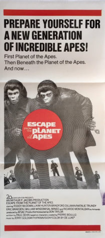 escape from the planet of the apes australian daybill poster 1971