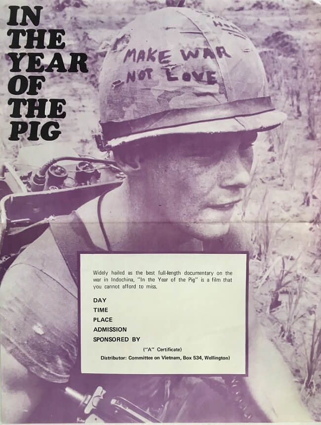 in the year of the pig new zealand daybill poster vietnam war 1