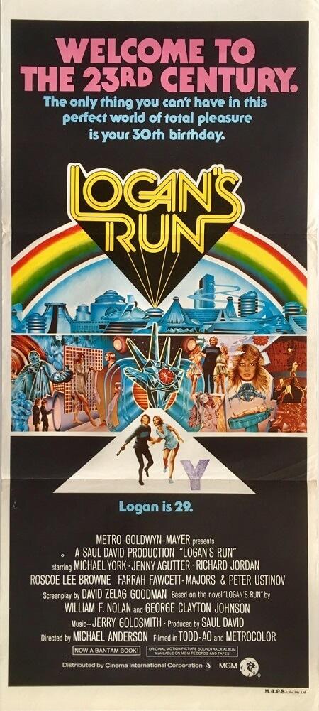logans run austrlian daybill poster sci-fi 1