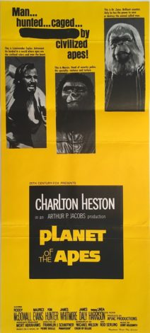 planet of the apes australian daybill poster 1968 charlton heston