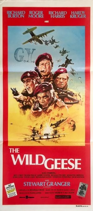 the wild geese australan daybill poster richard burton roger moore richard harris war movie 1