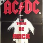 ACDC let there be rock nz poster 1980