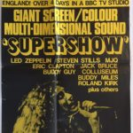 Supershow Australian & New Zealand poster LED Zepplin, Eric Clapton