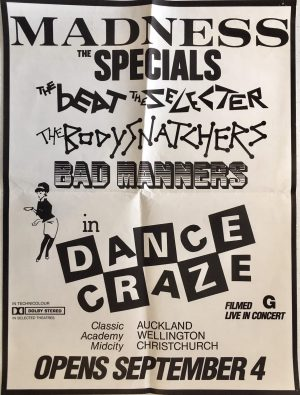 dance craze nz poster madness the specials bad manners beat the selecter ska music