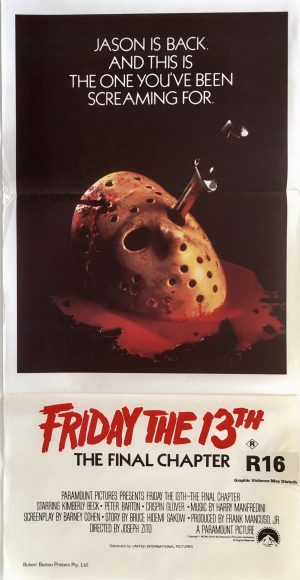 Friday the 13th final chapter daybill movie poster
