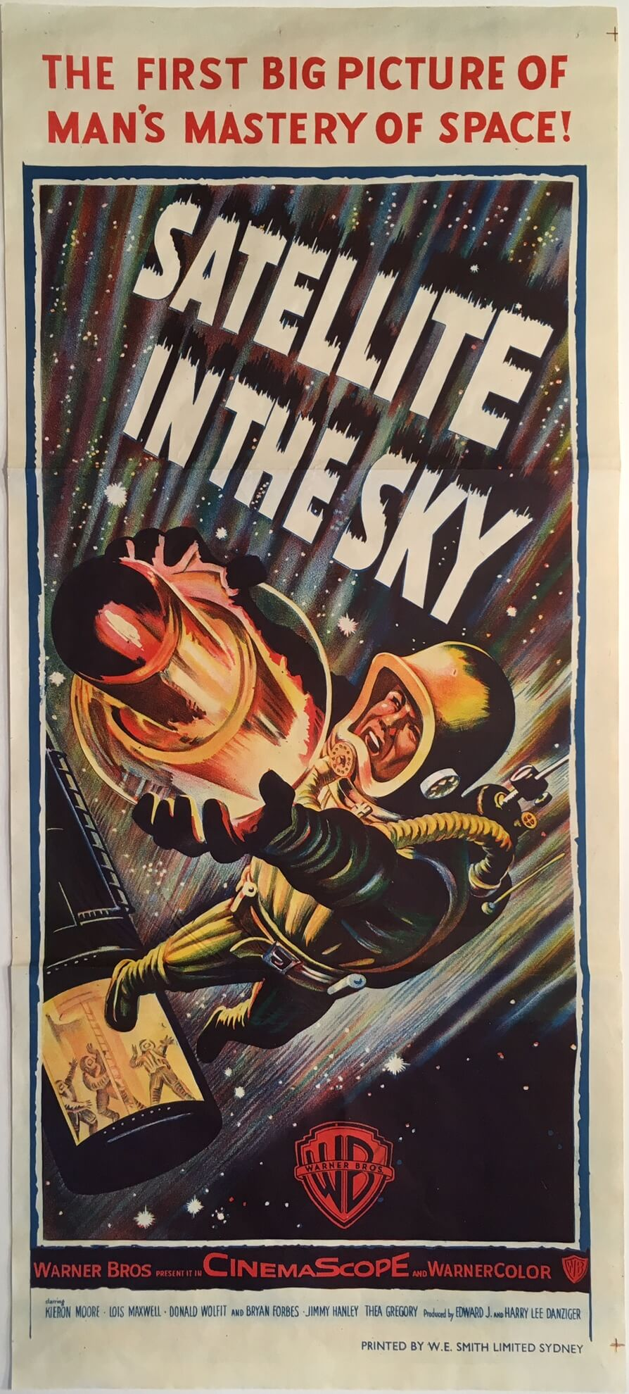 satellite in the sky australian daybill poster 1