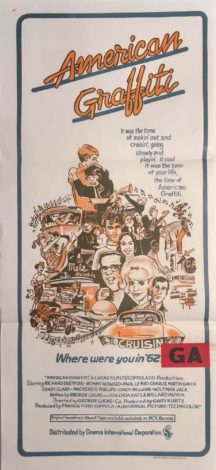 american graffiti australian daybill movie poster 1973 - george lucas