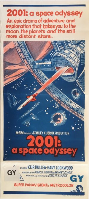 2001: A Space Odyssey Australian Daybill Movie Poster - stanley kubrick