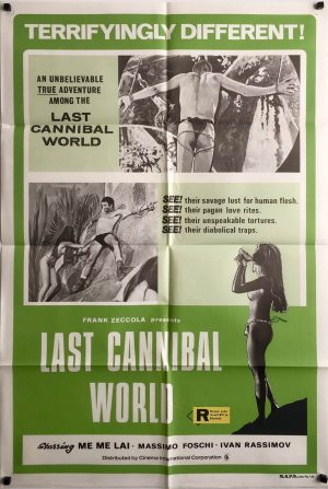 last cannibal world australian one sheet movie poster 1977