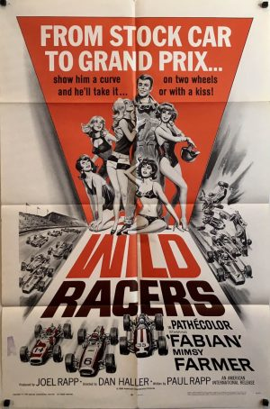 Wild Racers 1968 US One Sheet Movie Poster - Grand Prix Racing